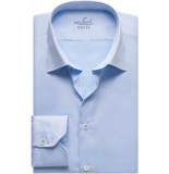 van Laack Ret heren overhemd twill moderne kent ml7 blauw