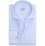 van Laack Rivara heren overhemd streep poplin cutaway comfort fit blauw