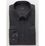Eterna Heren overhemd fil à fil button-down comfort fit zwart
