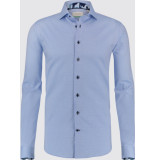 Jackett & Sons Oxford camouflage boord widespread blauw