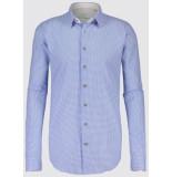 Jackett & Sons Licht jacquard button-down custom blauw