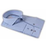 Thomas Maine Overhemd bari cutaway print jacquard 2-ply tailored fit blauw