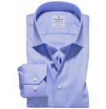 Emanuel Berg Heren overhemd luxe twill widespread effen modern fit