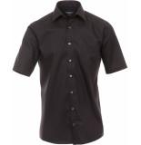 Casamoda Heren overhemd non iron korte mouw combi manchet comfort fit