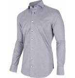 Cavallaro Heren overhemd orazio pied de poule two ply cutaway italian fit blauw