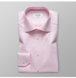 Eton Heren overhemd herringbone twill contemporary fit cutaway roze