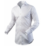 Circle of Gentlemen Heren overhemd amil cutaway stretch slim fit wit