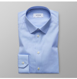 Eton Heren overhemd licht effen straight point super slim fit blauw