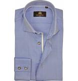 Circle of Gentlemen Heren overhemd berkay oxford gestipt slim fit blauw