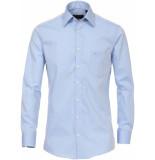 Casamoda Overhemd licht effen poplin kent ml6 comfort fit blauw