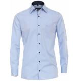 Casamoda Overhemd licht navy print details poplin kent comfort fit