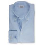 Stenströms Heren overhemd licht pinpoint slimline