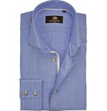 Circle of Gentlemen Heren overhemd bentley ruit slim fit blauw