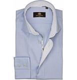 Circle of Gentlemen Heren overhemd botian oxford slim fit blauw