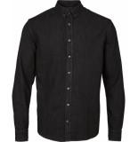 Kronstadt Heren overhemd johan denim zwart