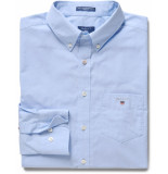 Gant Heren overhemd hamptons button-down poplin regular fit blauw