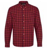 Kronstadt Heren overhemd johan ruit jersey slim fit rood