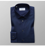Eton Heren overhemd poplin super slim fit straight point blauw