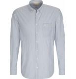 Camel Active Heren overhemd licht streep button-down regular fit blauw