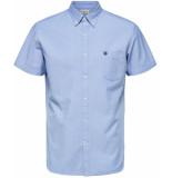 Selected Homme Heren overhemd licht korte mouw button-down regular fit