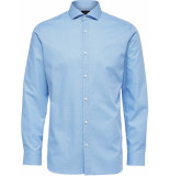 Selected Homme Heren overhemd licht dobby regular fit blauw