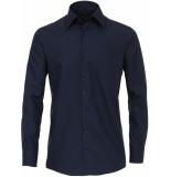 Casamoda Overhemd donker comfort fit kent non iron