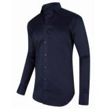Cavallaro Overhemd blauw twill ml7 widespread