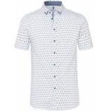 Desoto Heren overhemd korte mouw print button-down slim