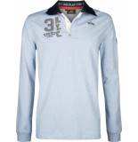 HV Polo Society heren poloshirt licht rugbyshirt tomkins blauw