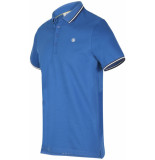 Blue Industry Polo cobalt blauw pique weving casual fit