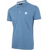Cavallaro Heren poloshirt met logo pique weving slim fit blauw