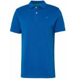 Tom Tailor Heren poloshirt gestikt logo pique regular fit blauw