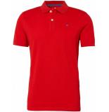Tom Tailor Heren poloshirt diep gestikt logo pique regular fit rood
