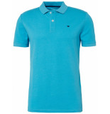 Tom Tailor Heren poloshirt oceaan gestikt logo pique regular fit blauw