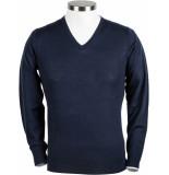 Giordano Heren trui blauw v-hals regular fit