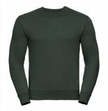 Russell Athletic Heren sweatshirt donker ronde hals regular fit groen