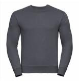 Russell Athletic Heren sweatshirt donker ronde hals regular fit grijs