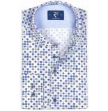 R2 Westbrook Heren overhemd bolletjes print bloem widespread modern