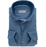 John Miller Heren overhemd denim button-down ml7 tailored fit