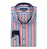 Sleeve7 Heren overhemd streep rood blauw