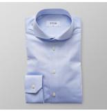 Eton Heren overhemd licht signature twill slim fit extra cutaway