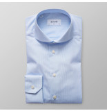 Eton Heren overhemd licht poplin fijne streep slim fit extreme cutaway