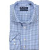 Sleeve7 Heren overhemd fijne ruit poplin slim fit