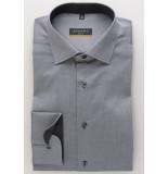 Eterna Heren overhemd classic kent slim fit stretch grijs