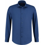 Liefling Heren overhemd blauw poplin cutaway tailored fit