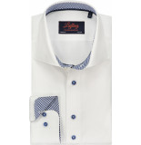 Liefling Heren overhemd navy contrast twill cutaway tailored fit