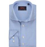 Liefling Heren overhemd ruit poplin cutaway tailored fit