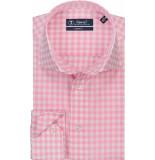 Sleeve7 Heren overhemd poplin ruit modern fit
