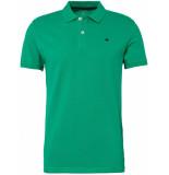 Tom Tailor Heren poloshirt komkommer gestikt logo pique regular fit groen