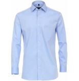 Casamoda Overhemd effen hemels kent modern fit